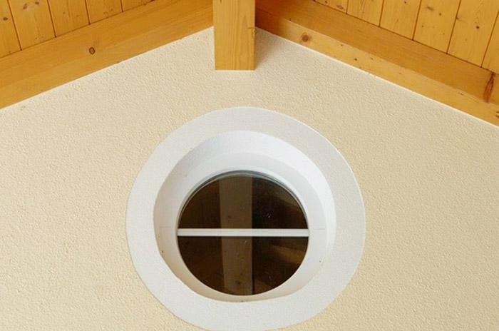runde Kunststofffenster