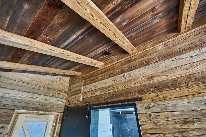 Sichtdachstuhl aus Altholz