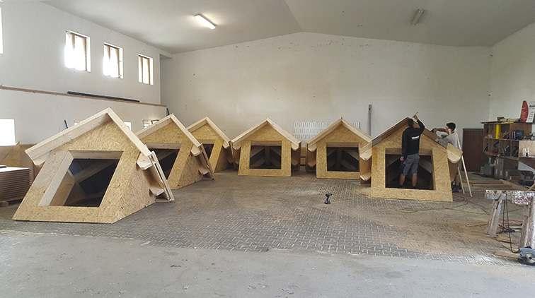 Vorgefertigte Dachgauben zur schnellen Montage